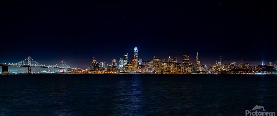 San Francisco City Skyline Panorama  Print