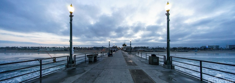 Huntington Beach Pier Panorama  Print