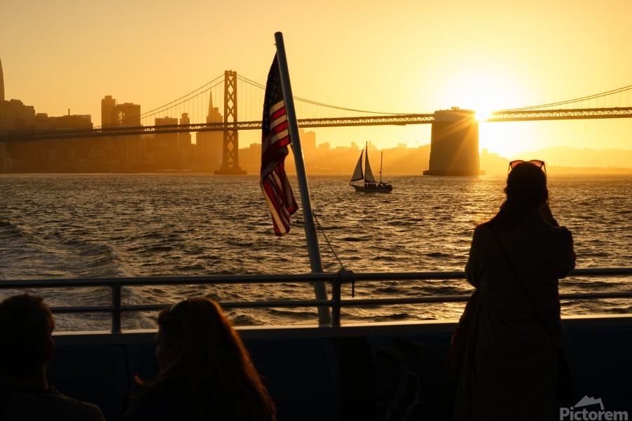 Sunset In The Bay  Print