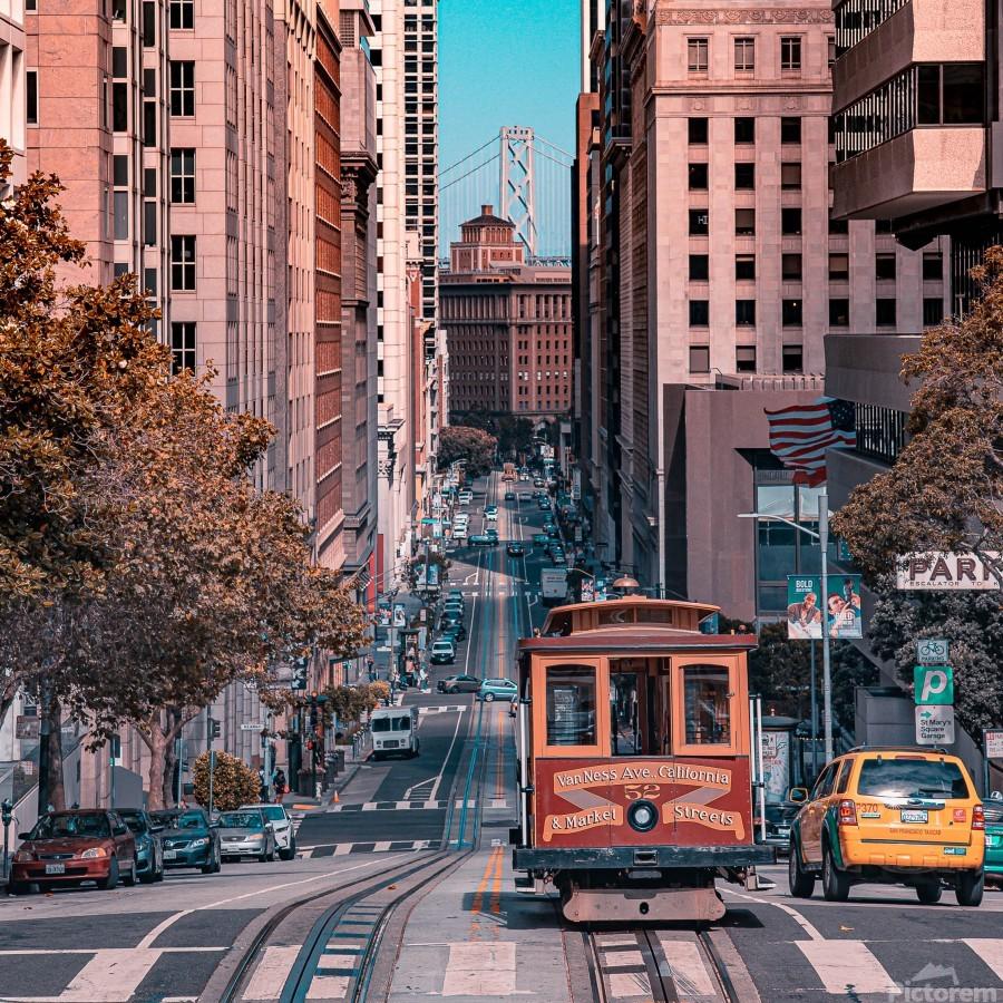 San Francisco City Scene  Print
