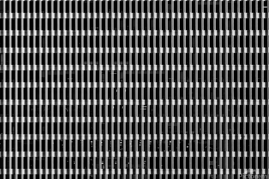 Black and White Skyscraper Windows  Imprimer