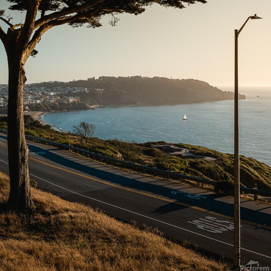 Sunset On San Francisco Coast  Print