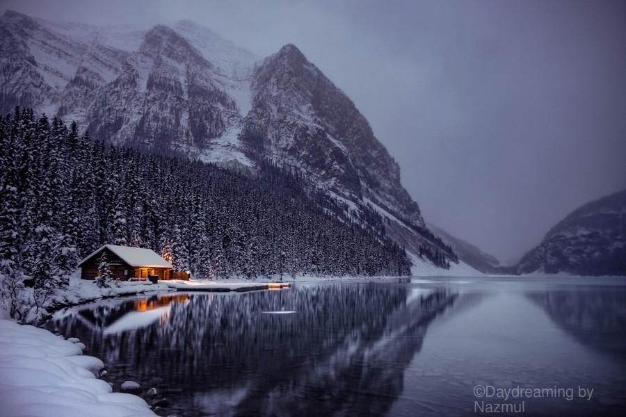 Winter Lake Louise   Print