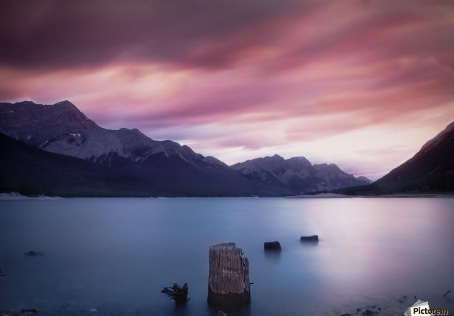 Spray Lake Sunset  Print
