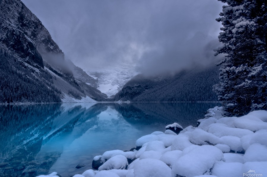 Lake Louise blues  Print