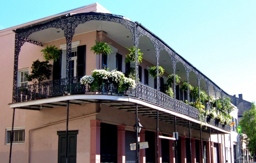 New Orleans Balcony  Print