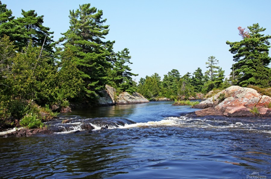 Lovers Rapids Lower French River  Print