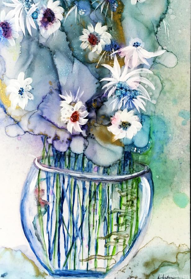 Blue Floral  Imprimer