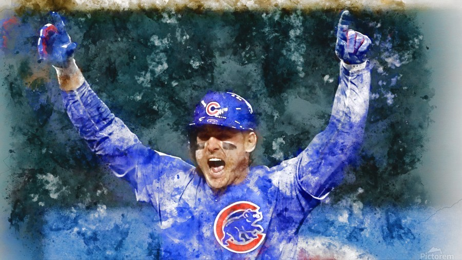 ANTHONY RIZZO Water Color Print - Chicago Cubs Print  Print