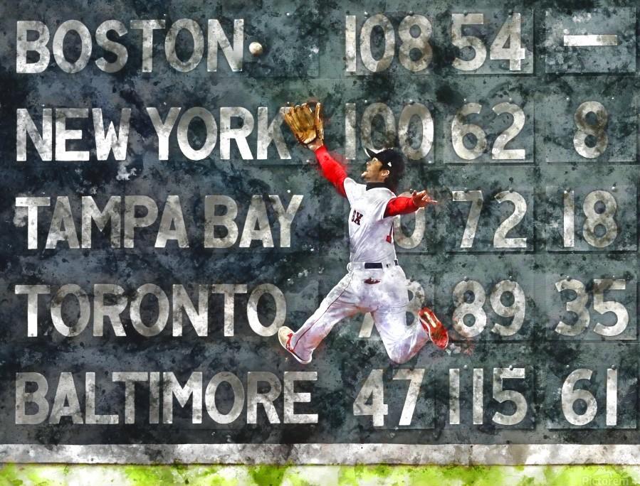 ANDREW BENINTENDI Water Color Print - Boston Red Sox Print  Print