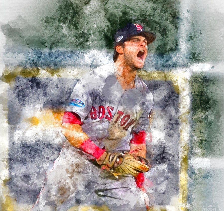 ANDREW BENINTENDI Water Color Print - Boston Red Sox Print  Print