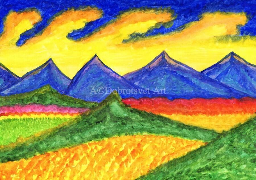 Fantastic mountain landscape  Print