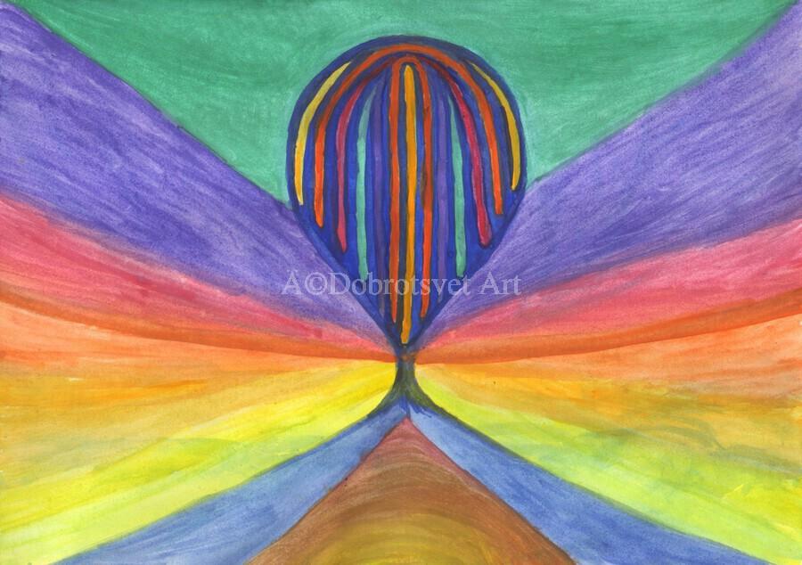 Abstraction flight  Print