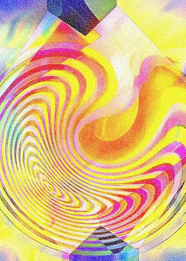 Multicolored Experimental Headache 21  Print
