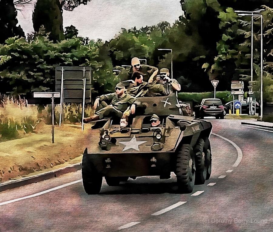 Six Wheeled Armoured Vehicle  Print
