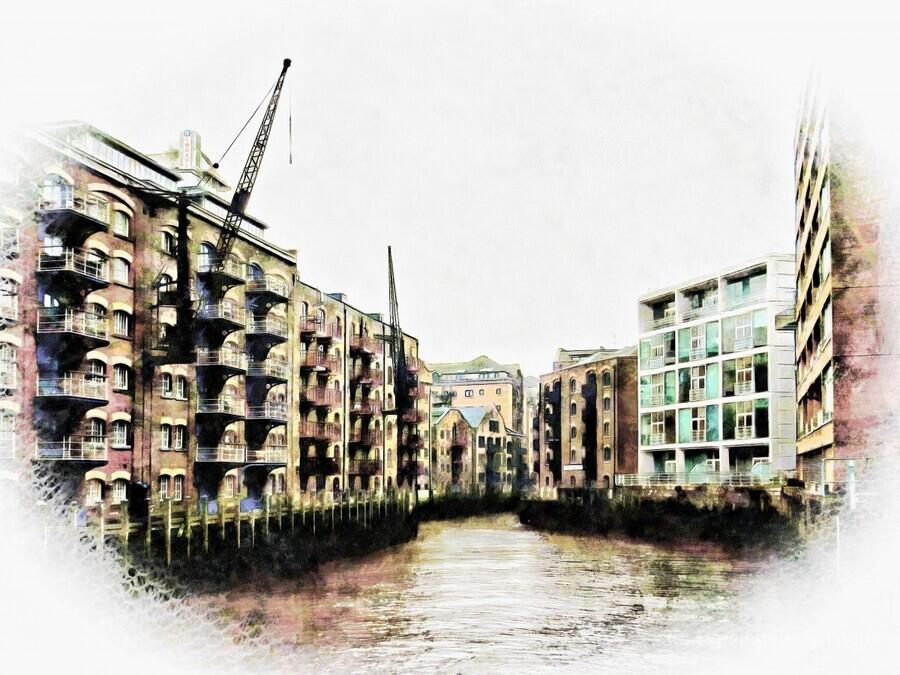 St Saviours Dock Bermondsey  Print