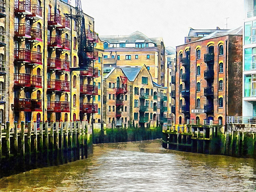 St Saviours Dock London  Print