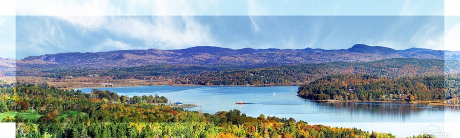 Grand Bay-Westfield New Brunswick in Autumn 48 by 12  Print