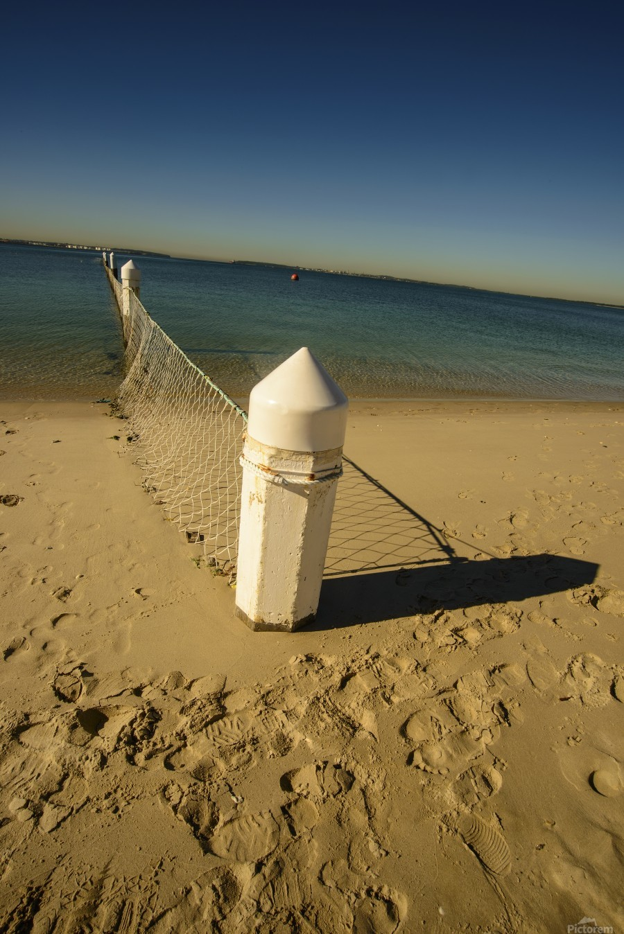 Shark Net Corner Post Perspective Brighton le Sands Australia.  Print