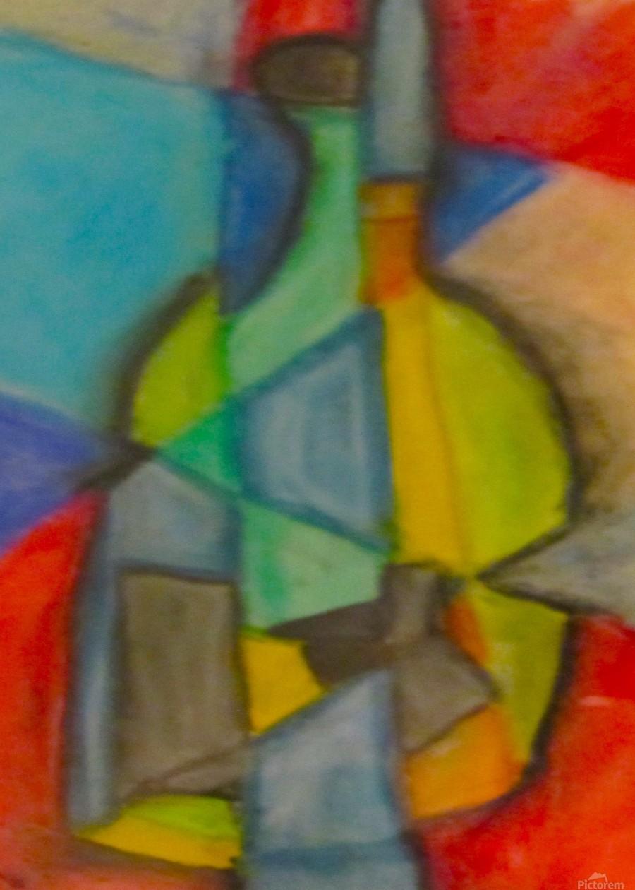 Cubist Bottle  Print