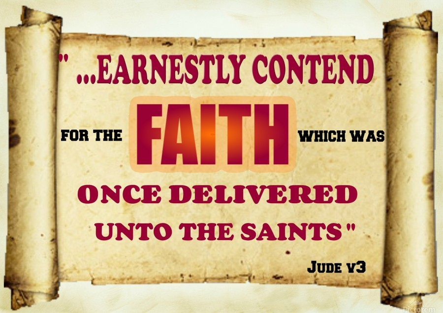 Earnestly contend for the faith  Print