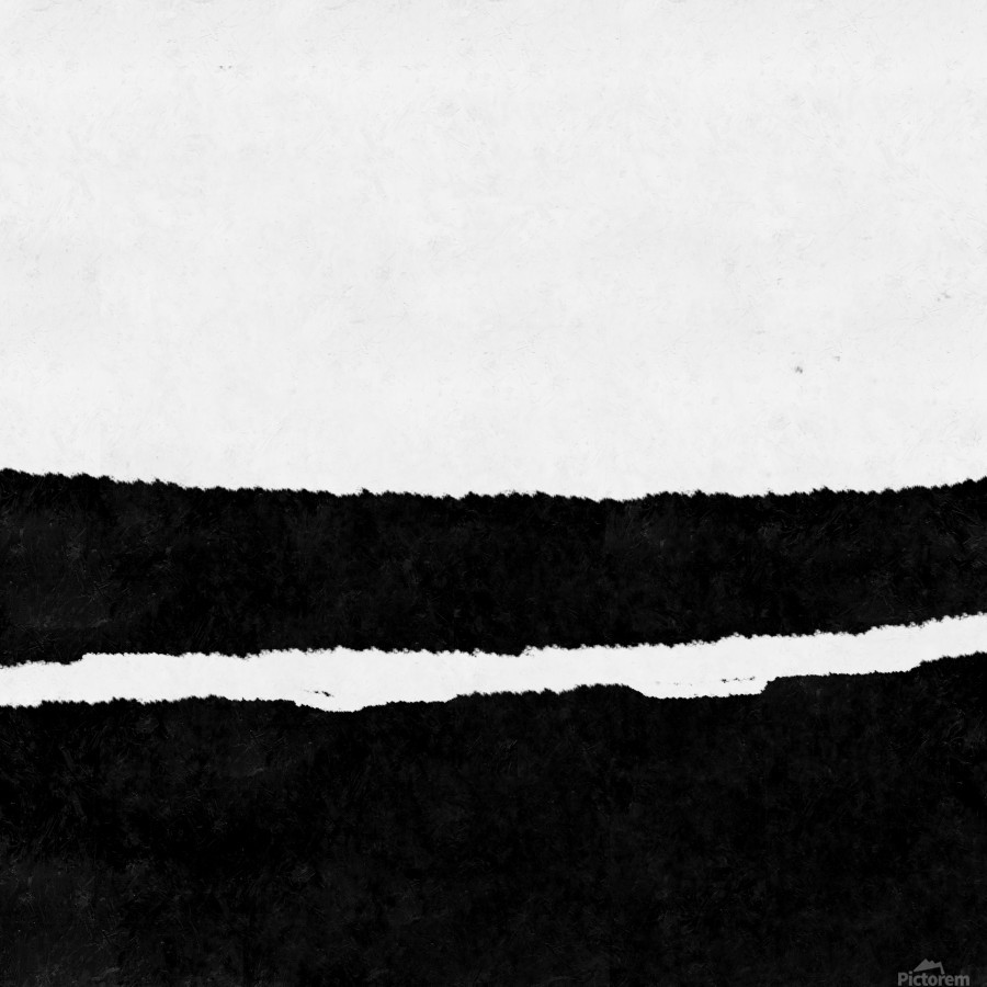 Black White Minimal Abstract Painting Nr.102  Print