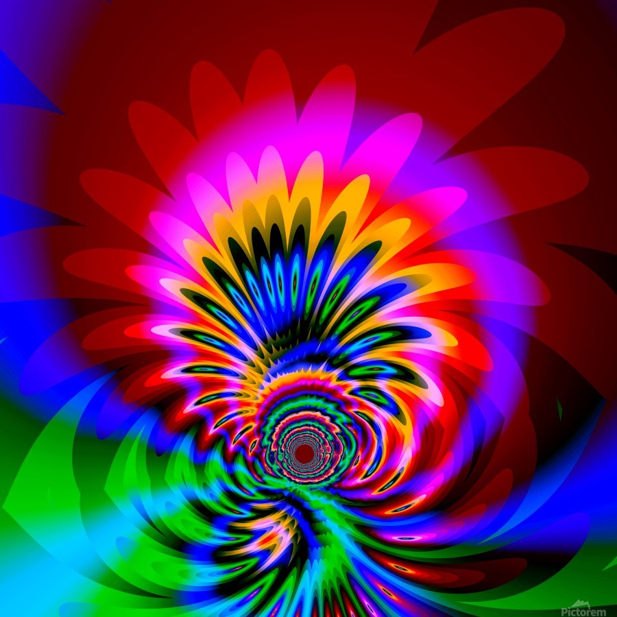 Psychedelic_Flower_series_3  Print