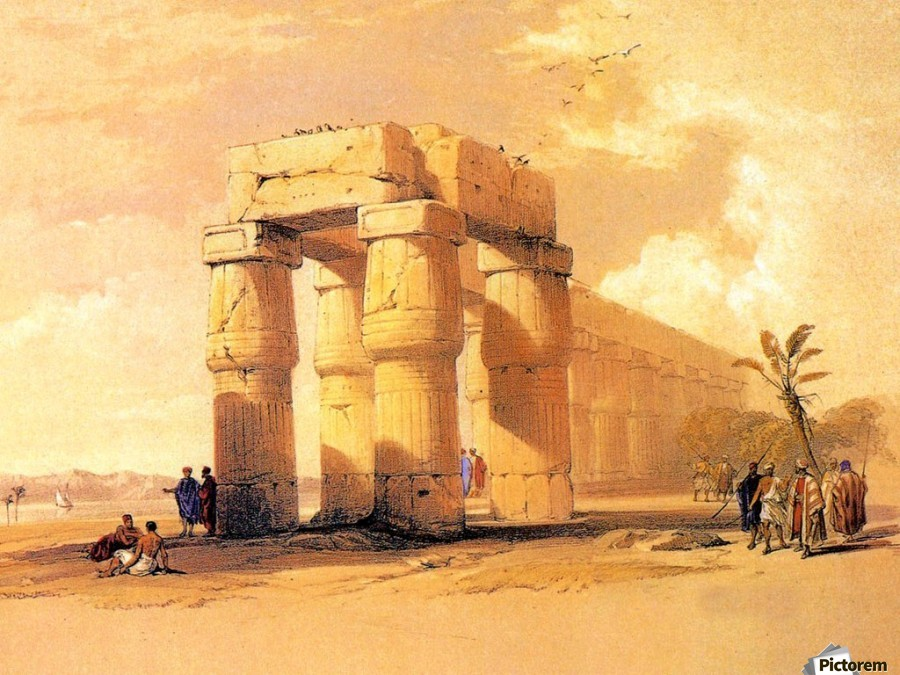 Egyptian ruines with figures  Print