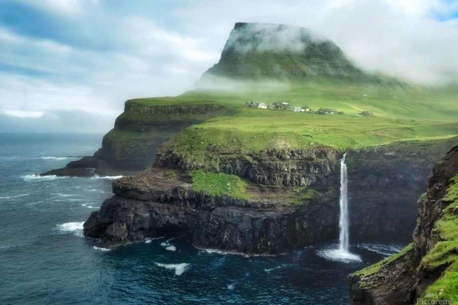 Múlafossur Waterfall  Print
