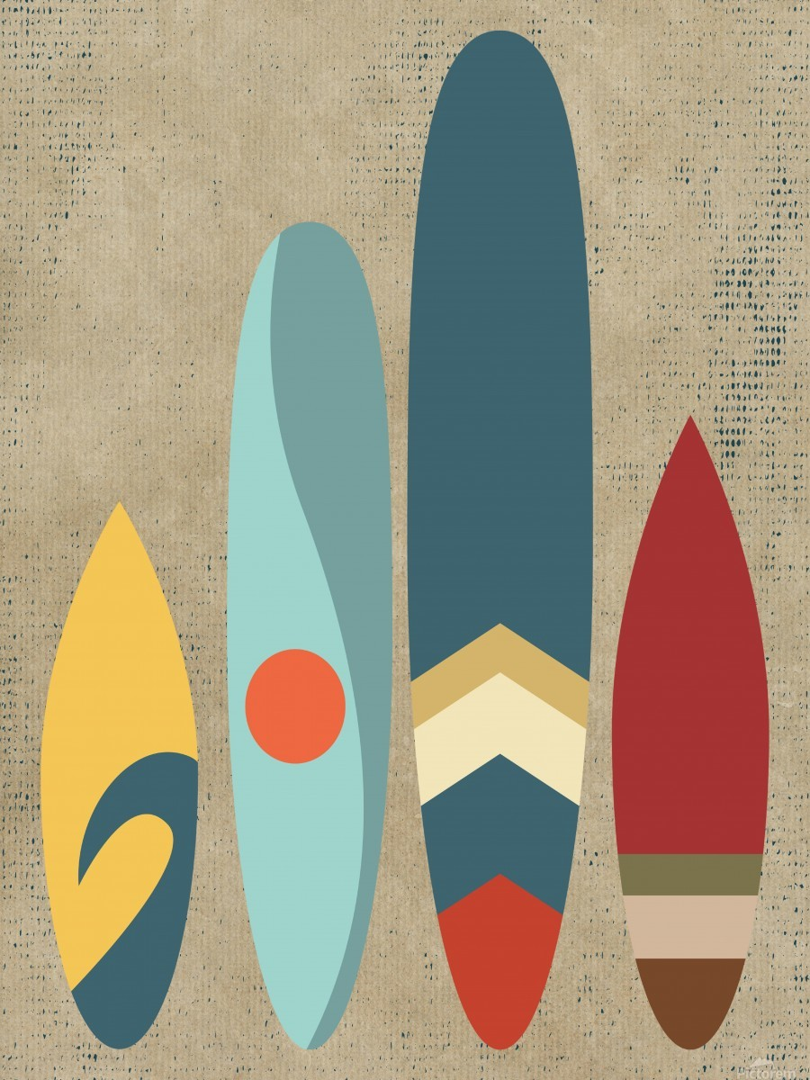 New day new waves  Print