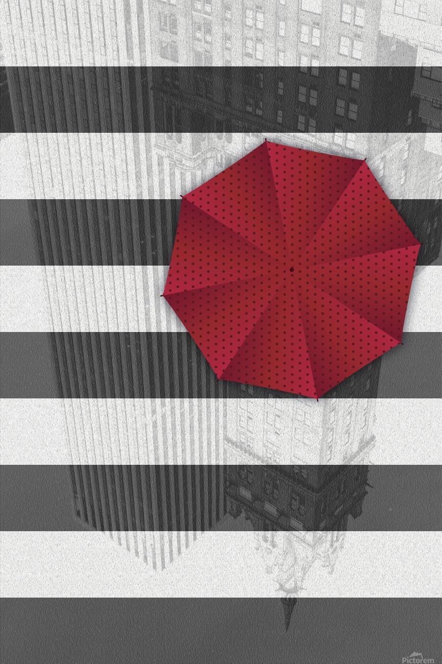 Rainy day in Manhattan  Print