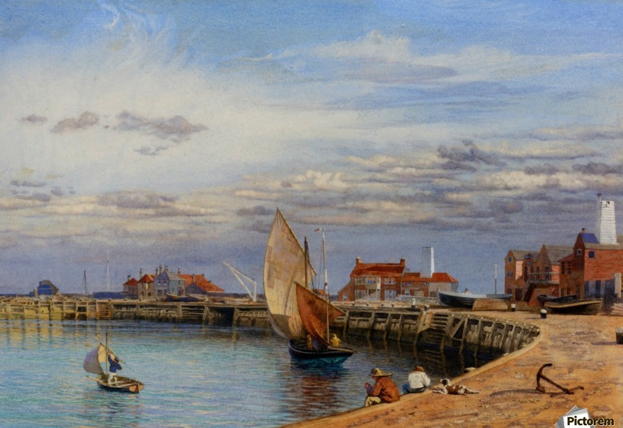 Entrance to Yarmouth Harbour  Print
