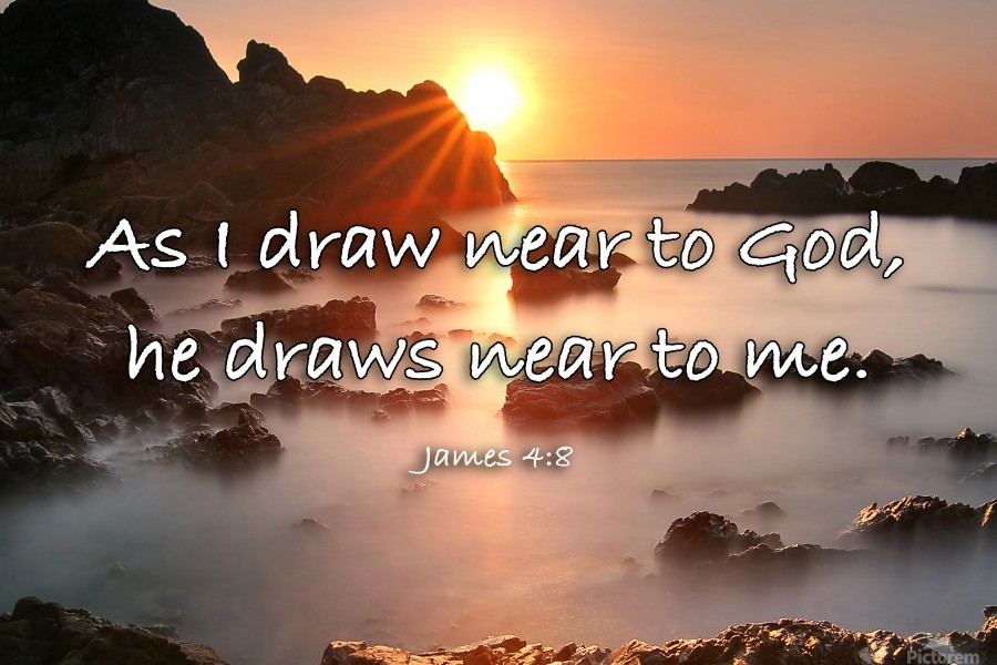 Draw Near Scripture On The Walls Canvas
