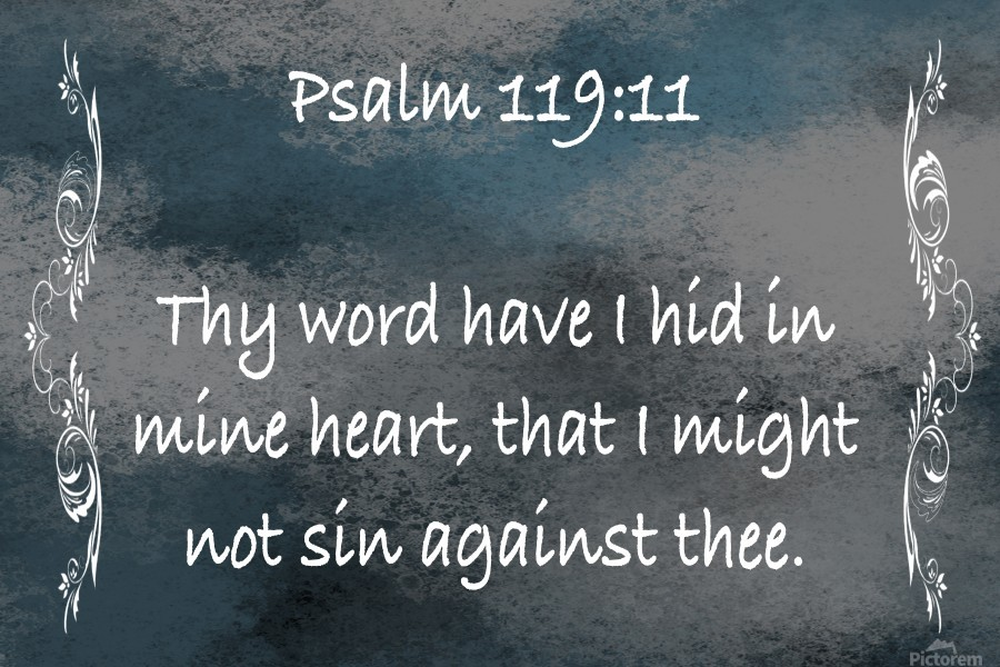 Psalm 119 11 4CH - Scripture on the Walls - Canvas Artwork