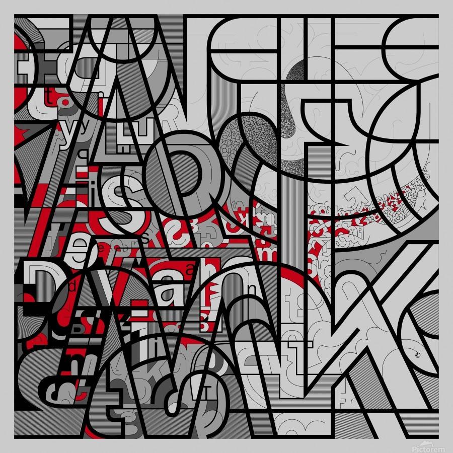 Type Is Deviant - Typography Art Print  Print