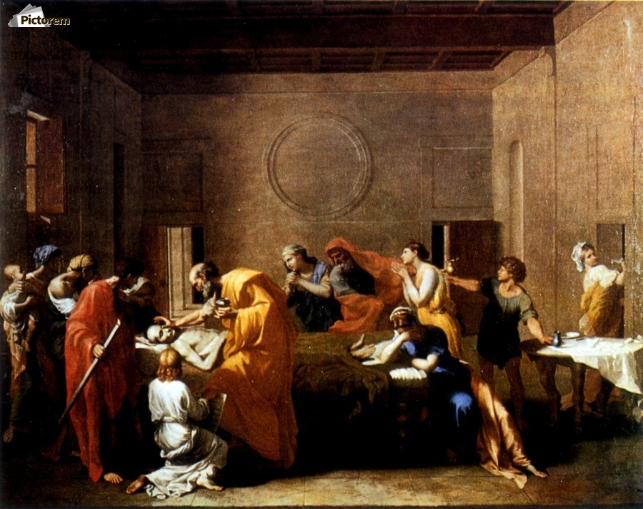 Nicolas Poussin The Annunciation Giclee Canvas Print Paintings Poster