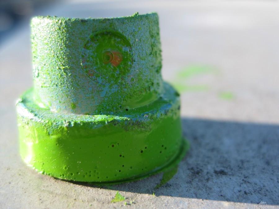 GREEN CAP  Print