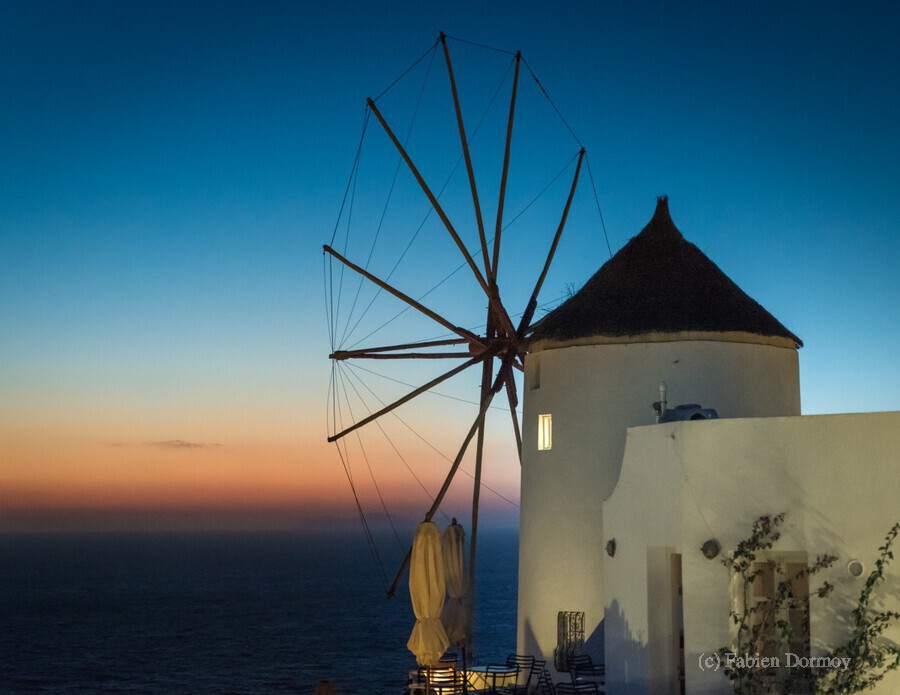 Mills Oia Night  Print