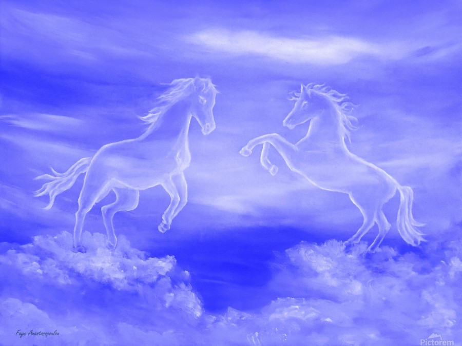 Horse Spirit Clouds  Print
