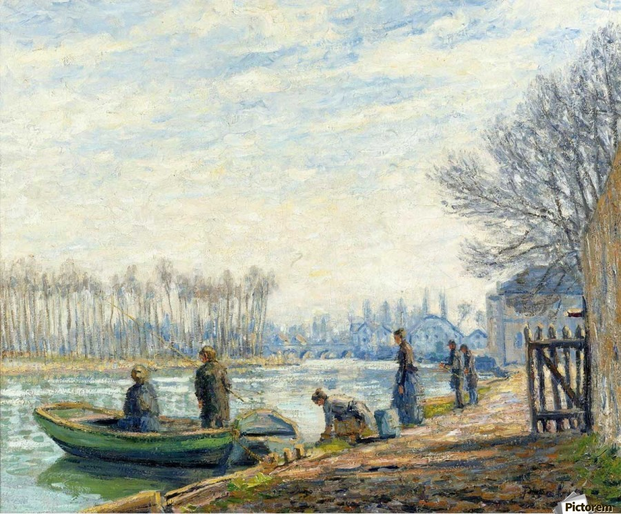 Fishermen at Moret-sur-Loing  Print