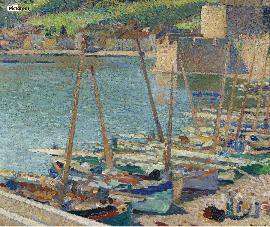 Fishing Boats on the Shore at Collioure  Print