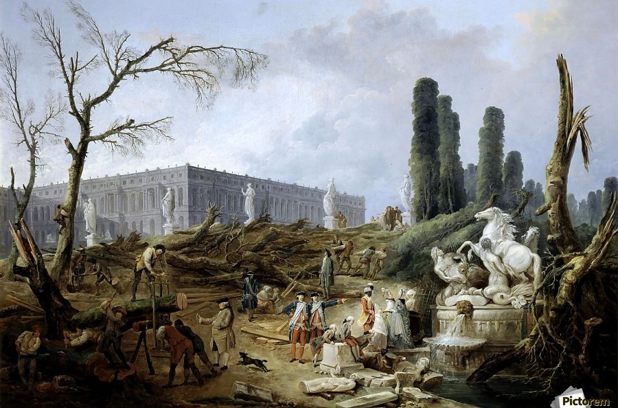 Fountain of Apollo gardens of Versailles - 1774  Print
