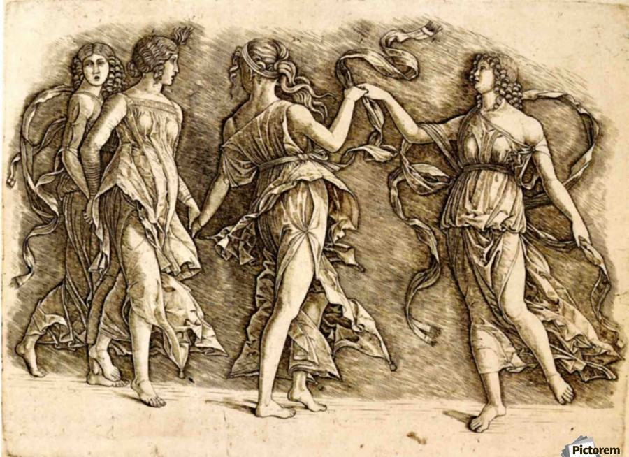 Four Muses  Print