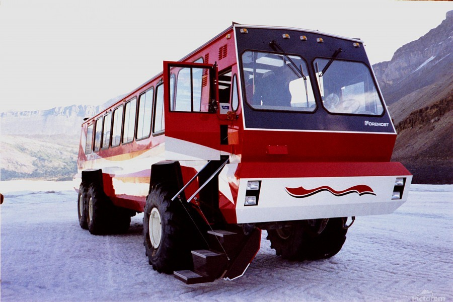 Snow Coach To The Columbian Ice Fields - Canada  Print