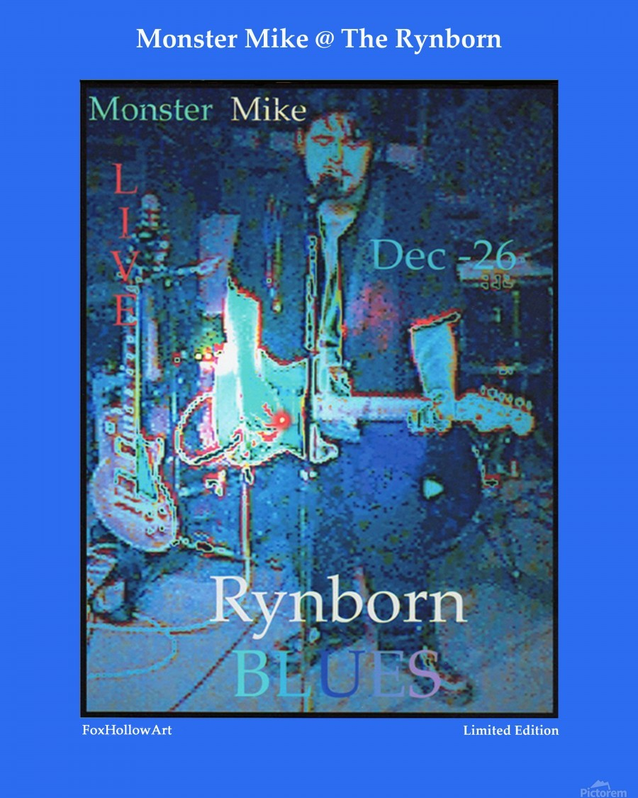 Monster Mike At The Rynborn Blues Club  Print