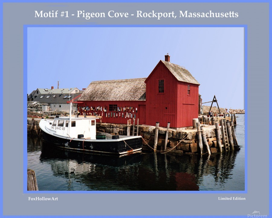 Motif Number One - Rockport Massachsuetts  Print