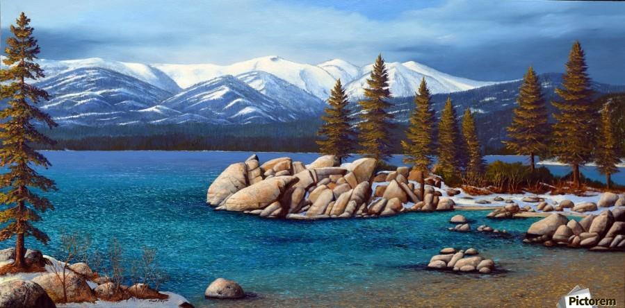 Winter At Sand Harbor Lake Tahoe - Frank Wilson