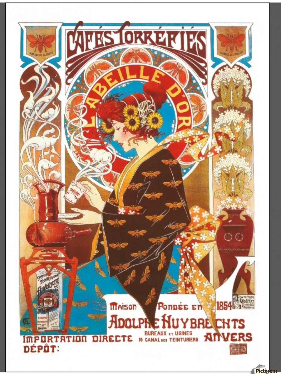 Vintage Art Nouveau Poster | www.pixshark.com - Images ...