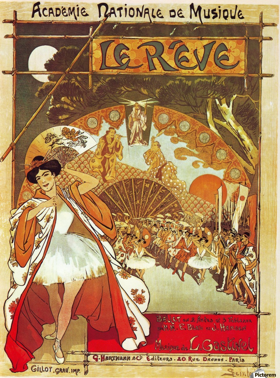 French Opera Poster Vintage Poster Canvas