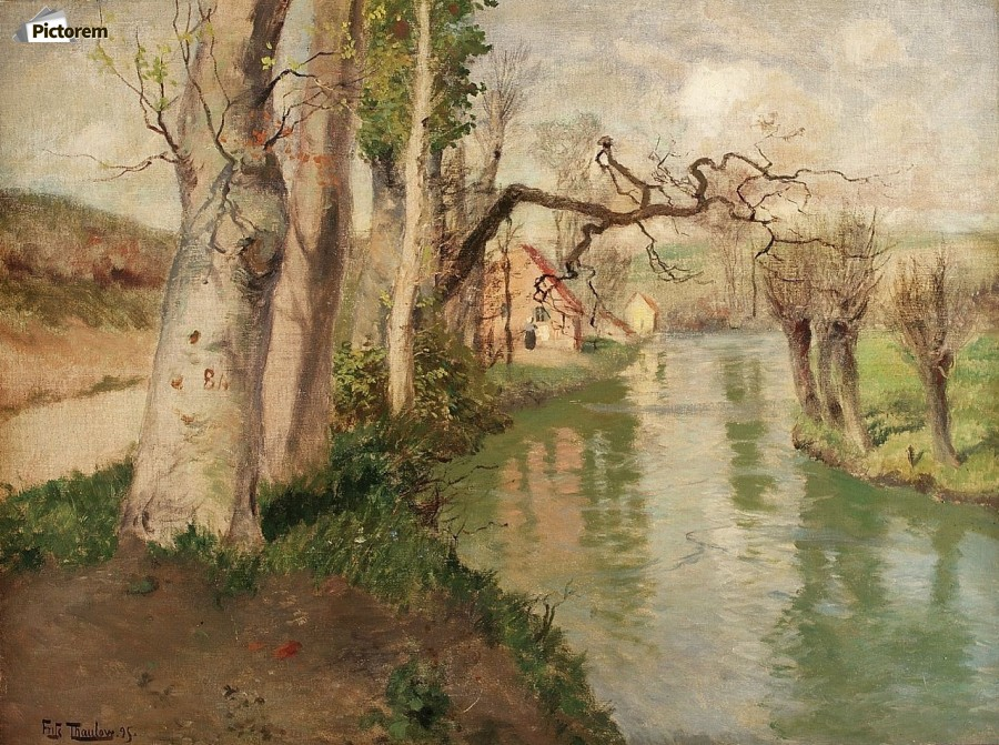 From Dieppe to Arques River  Print